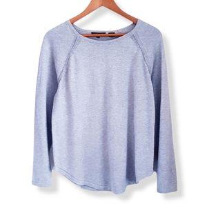 JEANNE PIERRE Gray Raglan Sleeve Pullover Sweater